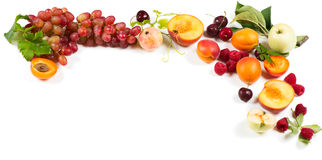 Organicznie lato jagody i owoc Obraz Royalty Free