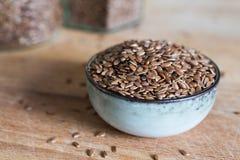 Organicznie linseed adry włókna jedzenie zdjęcia stock