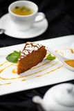 Organicznie marchwiany tort Fotografia Royalty Free