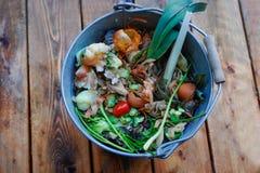 Organicznie odpady w wiadrze Obraz Royalty Free