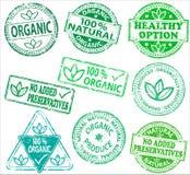 organicznie pieczątki Fotografia Royalty Free