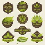 Organicznie produkt etykietki royalty ilustracja