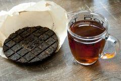 Organicznie Pu ` herbata er Zdjęcie Royalty Free