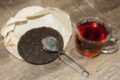 Organicznie Pu ` herbata er Zdjęcia Stock