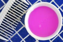 Organicznie różana kosmetyk maska & x28; pętaczka, shampoo& x29; dla naturalnej włosianej opieki Obraz Royalty Free