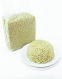 Organicznie ryż w naczyniu Zdjęcia Royalty Free