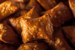 Organicznie Słony masło orzechowe precel Zdjęcie Stock