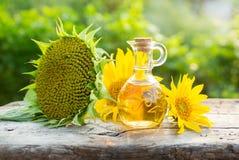 Organicznie słonecznikowy olej Obraz Stock