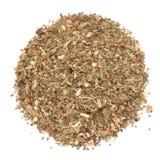 Organicznie Tulsi Masala zielona herbata odizolowywająca na białym tle lub basil obrazy royalty free