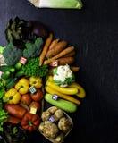 organicznie warzywa bogaci w witaminie jako A, b, C, d, P, E, bezpłatnej przestrzeni tekst fot zdjęcie stock