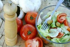 Organicznie warzywa dla sałatki fotografia royalty free