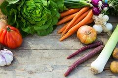 Organicznie warzywa na stole obraz royalty free