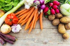 Organicznie warzywa na stole Zdjęcie Royalty Free