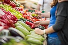 Organicznie warzywa przy rynkiem Obrazy Stock