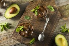 Organicznie Zdrowy Domowej roboty Avocado pudding Zdjęcia Royalty Free