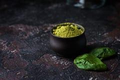 Organicznie Zielona Matcha herbata Obrazy Royalty Free