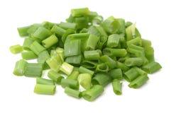 Organicznie zielonej cebuli scallion obraz stock