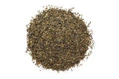 Organicznie zielonej herbaty Herbacianej torby cięcie, suszący liście (Kameliowy sinensis) Obrazy Royalty Free