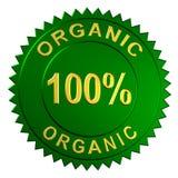 organicznie znak Fotografia Stock