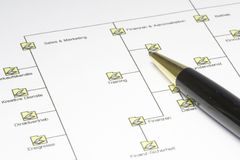 Organigram Stock Photography