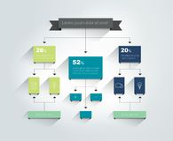 organigrama Esquema, diagrama, carta Infographic stock de ilustración