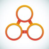 Organigrama vacío de la comercialización del círculo de color Fotos de archivo libres de regalías