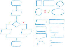 Organigrama y elementos Fotografía de archivo
