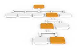 Organigramma, arancione. illustrazione di stock