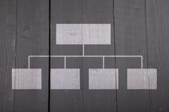 Organigramma bianco su fondo di legno fotografia stock libera da diritti