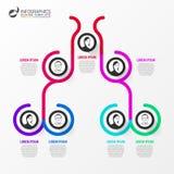 Organigramma creativo Modello di progettazione di Infographic Vettore royalty illustrazione gratis