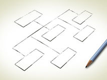 Organigramme blanc Image stock