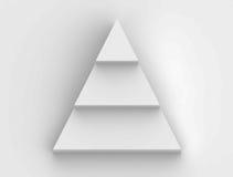 Organigramme d'étape de pyramide à l'arrière-plan blanc illustration libre de droits