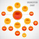 Organigramme infographic Photographie stock