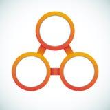 Organigramme vide de vente de cercle de couleur illustration de vecteur