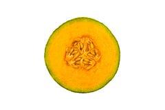 Organique frais une moitié de melon orange de cantaloup images stock