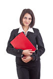 Organisateur de fixation de femme d'affaires Photos stock