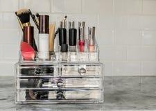 Organisateur de maquillage Photo stock