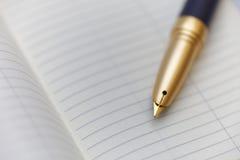 Organisateur personnel avec un stylo images stock