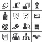 Organisatie en bedrijfseconomiepictogramreeks Stock Afbeeldingen