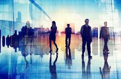 Organisatie Team City Life van de bedrijfsmensen de Stedelijke Scène Royalty-vrije Stock Foto