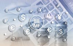 Organisatie van de het Internationale monetaire fondsen de globale bank van het IMF Bedrijfsconcept op Vage Achtergrond stock illustratie