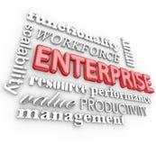 Organisatie van het het Bedrijfaantal arbeidskrachten van ondernemings 3d Woorden Stock Afbeeldingen