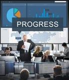 Organisatiestrategie Marketing Onderzoekconcept royalty-vrije stock foto