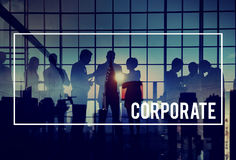 Organisation d'entreprise de coopération de collaboration de connexion concentrée photos stock