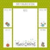 Organisation de fête de Noël Images stock