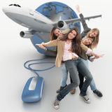 Organisation de voyage de groupe Images libres de droits