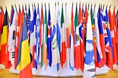Organisation der Vereinten Nationens-Mitgliedsflaggen lizenzfreie stockfotos