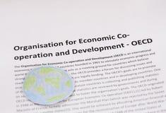 Organisation für die wirtschaftliche Zusammenarbeit und Entwicklung OECD lizenzfreie stockfotos