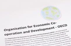 Organisation für die wirtschaftliche Zusammenarbeit und Entwicklung. OECD. stockbilder