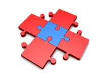 Organisation idea with puzzles pieces isolated, problem soving concept Royalty Free Stock Photography